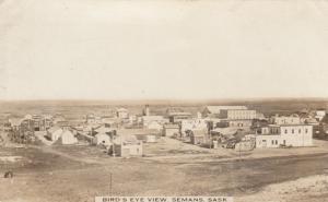 RP; SEMANS , Saskatchewan, 1900-10s ; Bird's Eye View