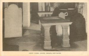 New Haven Connecticut~Crypt Under Center Church~Burying Grounds Left Below~1935