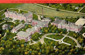 Kansas Leavenworth Aerial View Of Saint Mary College and Academy