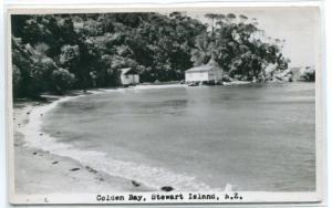 Golden Bay Stewart Island New Zealand 1950s Real Photo postcard