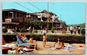 Monticello Indiana~Lake Shafer Beach~Skyroom Restaurant~Skyride~Sun Bathers~1973