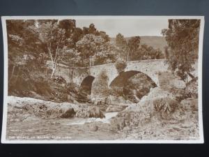 Perthshire THE BRIDGE OF BALGIE, GLEN LYON - Old RP Postcard