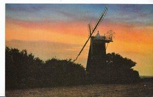 Norfolk Postcard - A Norfolk Windmill at Night   XX306