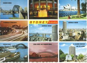 Sydney Australia Multiview Postcard D24