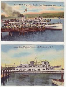 P206 JLs 2 1930-45 postcard linen steamer mt. washington nh