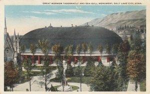 SALT LAKE CITY, Utah, 1900-10s; Great Mormon Tabernacle & Sea-Gull Monument, v2
