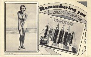 Chicago IL Century of Progress Rare Remembering you Postcard
