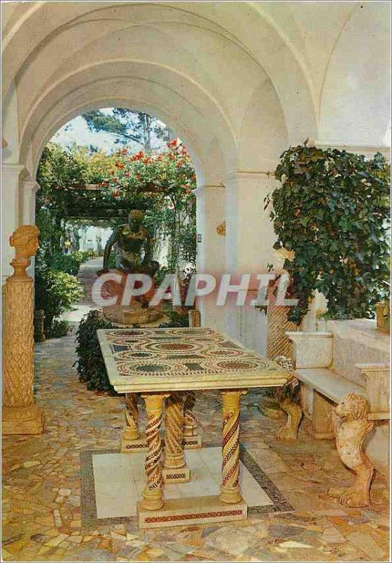 Postcard Modern Villa Anacapri its n Michelle Hermes and Byzantine table