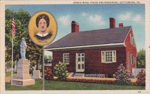 Pennsylvania Gettysburg Jennie Wade House And Monument