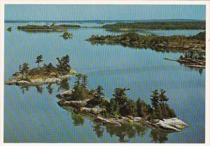 Canada Ontario Aerial View Lake Of The Woods Sunset Country