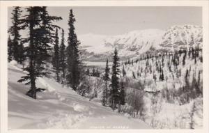 Alaska Winter Scene Real Photo