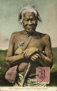 argentina, India Chamacoco, Native Old Chaco Indian, Puerto 14 de Mayo (1910)
