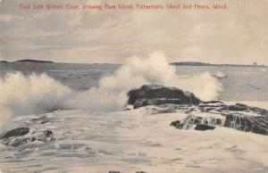 Grimes Cover Maine Ram Island Hearn Scenic View Antique Postcard J73089