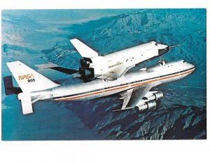 N A S A 747 Transporter Carrying Space Shuttle Enterprise