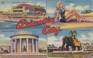 New Jersey Greetings From Atlantic City Multi View 1957