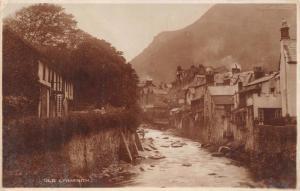 OLD LYNMOUTH DEVON UK I G RICHARDS ROBACCONIST PUBL PHOTO POSTCARD