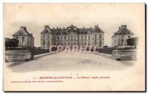Old Postcard Brienne le Chateau Facade The main castle