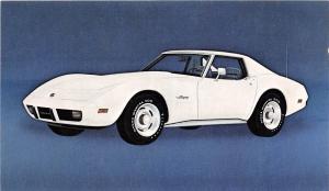 C17/ Chevrolet Corvette Advertising Postcard Chrome Muscle Car 1975 3