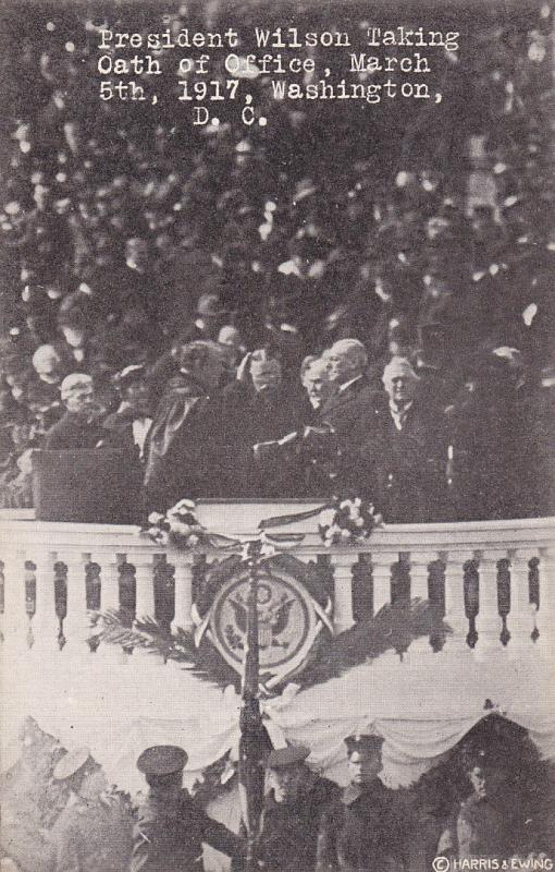 Wilson Inaguration , Taking oath of Office , Washington , D.C. , 1917