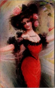Yuma , Arizona - Vintage - BEAUTIFUL WOMAN -  Postcard