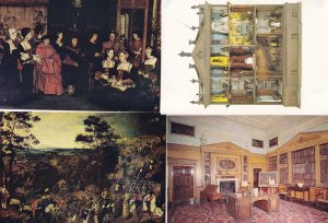 Nostell Priory Yorkshire Library Dolls House Hans Holbein Painting 4x Postcard s