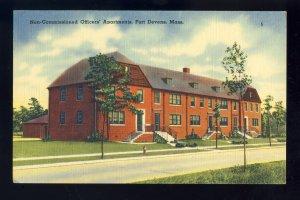 Fort Devens, Ayer, MA/Mass/Massachusetts Postcard, Non-Comm Officers' Ap...