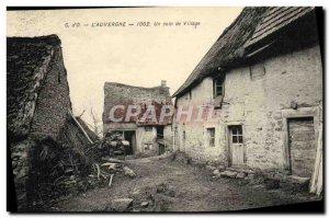 Old Postcard L & # 39Auvergne A Corner Of Village
