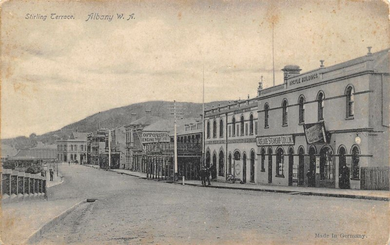 Stirling Terrace Albany Western Australia 1910c postcard