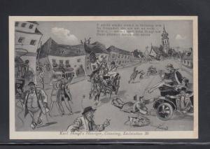 Postcard Austria Humor Karl Hengl's Winery Grinzing Unused