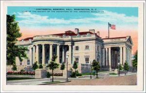 Continental Memorial Hall, Washington DC