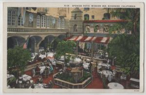 Spanish Patio Mission Inn Interior Riverside California CA USA Vintage Postcard
