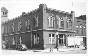 Lowell Michigan~City Hall on East Main Street~Kent County~40s Cars~RPPC-Postcard