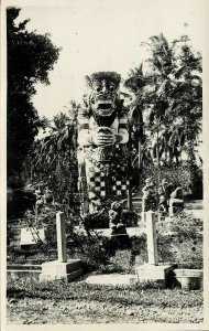 indonesia, BALI, Unknown Stone Barong Figure (1935) RPPC Postcard