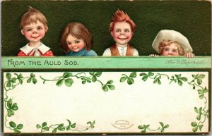 ANTIQUE ST. PATRICK'S DAY Postcard (ELLEN CLAPSADDLE)  FROM THE AULD SOD