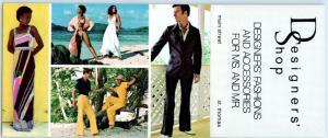 ST. THOMAS, Virgin Islands  Folding Advertising DESIGNERS' SHOP Fashion Models