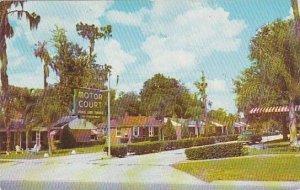 Florida Winter Haven Beautiful spring Lake Terrace Motor Court 1953