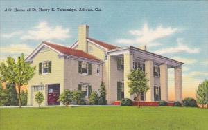 Home Of DR Harry E Talmadge Athens Georga