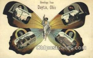 Greetings from Dayton, Ohio, USA Old Vintage Antique Postcard Post Card  Gree...