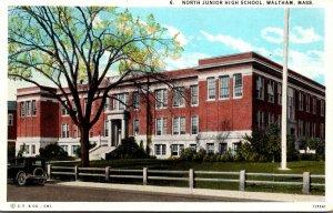 Massachusetts Waltham North Junior High School Curteich