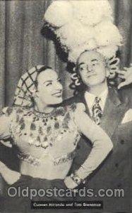 Carment Miranda & Tom Breneman  Actress / Actor Postcard Post Card Old Vintag...