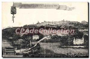 Old Postcard Mont Cassel Vue Prize De La Gare