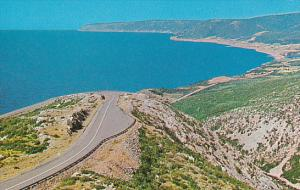 Canada Road Descending MacKenzie Mountain On Cabot Trail Cape Breton Nova Scotia