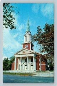 Aiken SC, First Baptist Church, Chrome South Carolina c1966 Postcard
