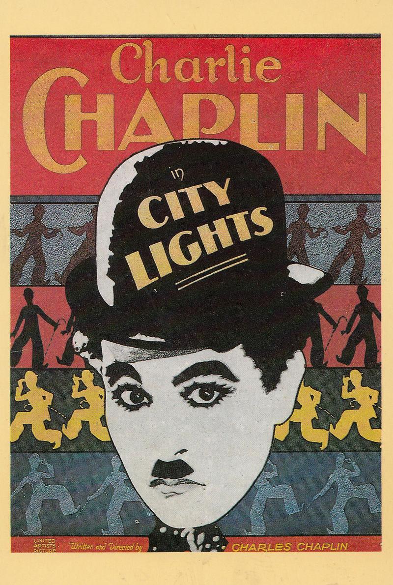 City Lights Charlie Chaplin Movie Rare London Cinema Poster