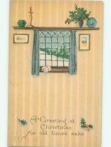 Divided-Back CHRISTMAS SCENE Great Postcard W9761