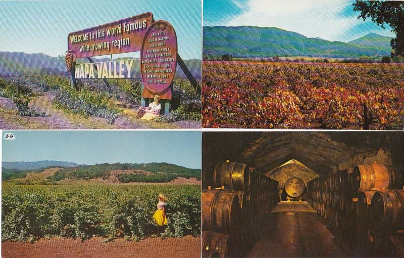0083 Grabbag Auction 4 California Wine Related Postcards Starting At .99