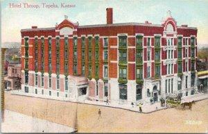 Topeka KS Hotel Throop Unused Arthur Capper Postcard G21