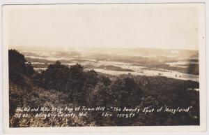 RP; Top Of Town Hill, The Beauty Spot Of Maryland, Allegany County, MD, 30-40s
