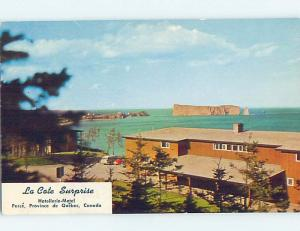 Pre-1980 MOTEL SCENE Perce On Gaspe Quebec QC B7269