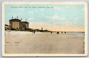 Seabreeze Florida~Clarendon Hotel Waterfront~Couples Stroll Beach~1920s Cars